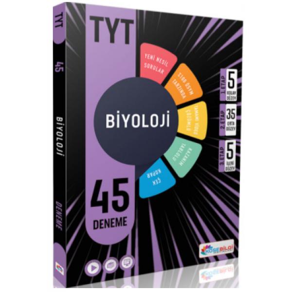 KöşeBilgi Yayınları TYt Biyoloji 45 Deneme