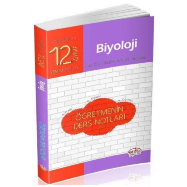Editör Yayınları 12. Sınıf Biyoloji Öğretmenin Ders Notları
