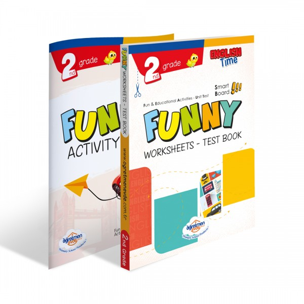 2. Sınıf İngilizce Funny Worksheets & Test Book + Activity Book