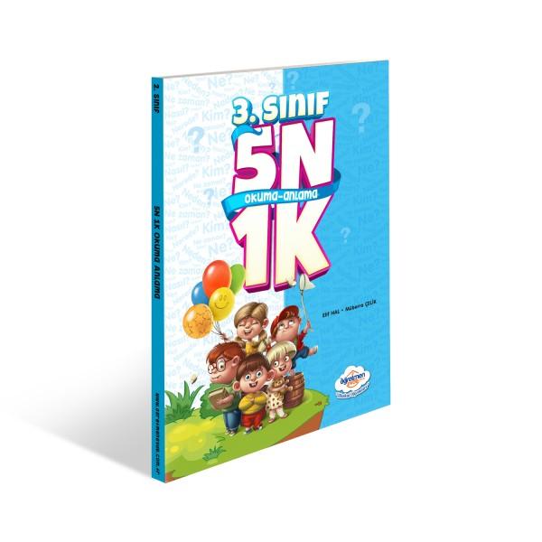 5N1K 3. Sınıf Okuma Anlama Kitabı | Öğretmen Evde Yayınları