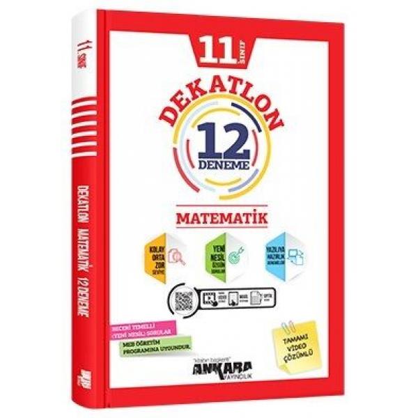 Ankara Yayıncılık 11. Sınıf Matematik Dekatlon 12 Deneme