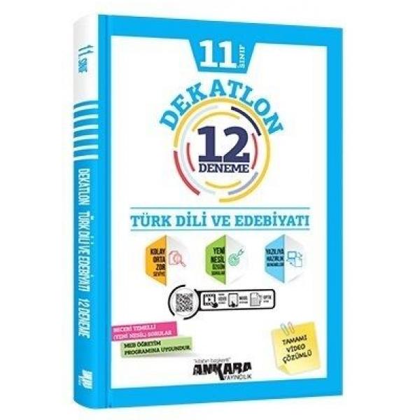 Ankara Yayıncılık 11. Sınıf Türk Dili ve Edebiyatı Dekatlon 12 Deneme